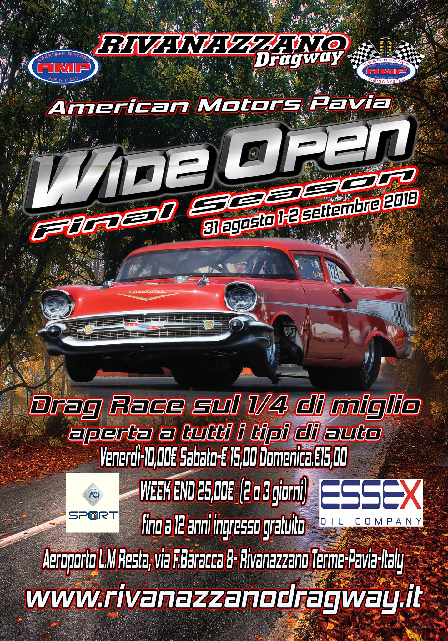 The Third And Final Round Of S Italian Quarter Mile Drag Racing Championship Brought To You By American Motors Pavia The Mexican Village Goes To
